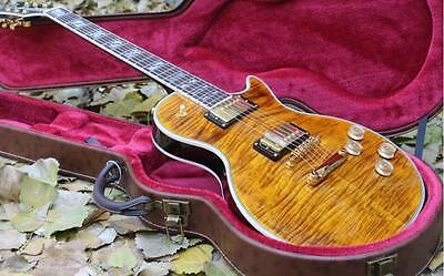 New top quality custom double Tiger Flame Maple top supreme LP Electric Guitar