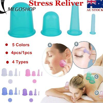 Health Care Body Anti Cellulite Silicone Vacuum Massager Cupping Cup 1pcs/4 OK