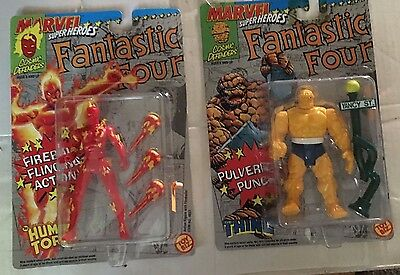 Thing And Human Torch - Action Figure - Marvel Super Heroes, Fantastic Four,