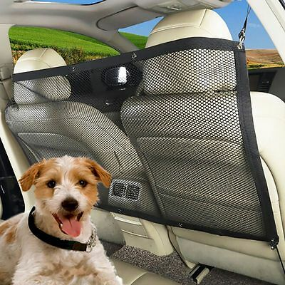 Pet Car Back Seat Safety Net Barrier  Puppy Vehicle Fence Isolation Guard Mesh