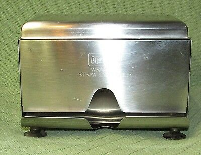 Vintage HALCO Stainless Steel Sanitary Straw Dispenser Double Sided JAPAN