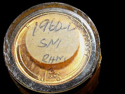 1960-D 1C Lincoln Wheat Penny FULL ROLL of all 50 SMALL DATES BU+ RED's SEALED!
