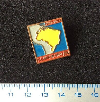 Pin 50th anniversary of the Brazilian Communist Party 1922-72. Vintage Badge