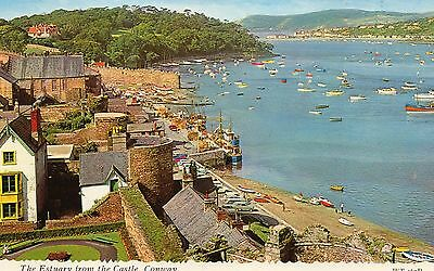 Postcard Wales The estuary from the Castle, Conway un posted Bamforth