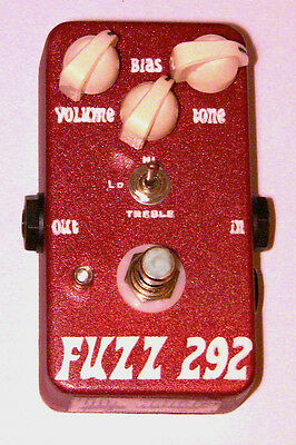 """JDM Pedals """"Fuzz 292"""" Silicon Fuzz Pedal - Best Tone Around! See Video"""