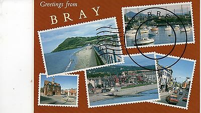 postcard Ireland greetings from Bray unposted Hinde