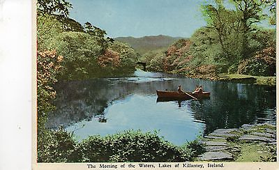 postcard Ireland  The Meeting of the Waters Lakes of  Killarney  unposted