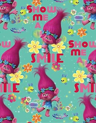 Trolls * Poppy's True Colours Fabric * In Stock * Free Post *