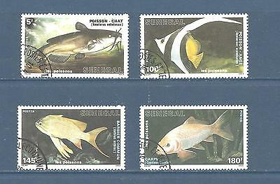 "Senegal    #762-765   Used     ""fish"""
