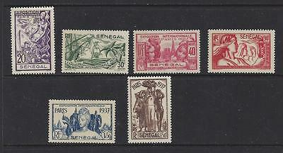 "Senegal #172-177   Mh  ""paris Intl. Exposition Issue"""