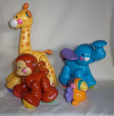Lot 4 x Fisher Price Click Clack Animals - Baby Toys - Clicky