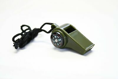Military Whistle with Compass Camping Hiking Camping Hiking