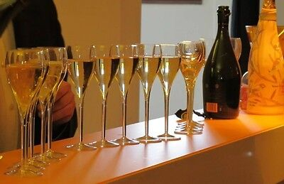 Veuve Clicquot Crystal Champagne Flutes X 4 New