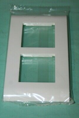 Legrand Mosaic 45 Plaque+support blanche 2X 2 modules vertical 75022