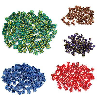 100PCS  6-sided Dice Spot Dice 14mm for Board Games, Party Games Dice