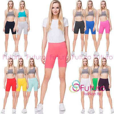 Cotton Leggings 1/2 Length Above- Knee Shorts Active Sport Dance Cycling PLKX