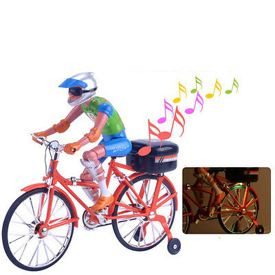 Electric Bicycle Simulation Model,HOCHE Children's Toy Move with Music and Light