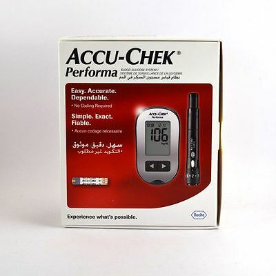 ACCU-CHEK Lecteur de Glycémie Performa Set d'initiation (kit complet)