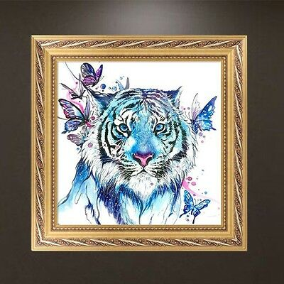 DIY 5D Diamond Embroidery Painting Tiger Butterfly Cross Stitch Craft Home Decor