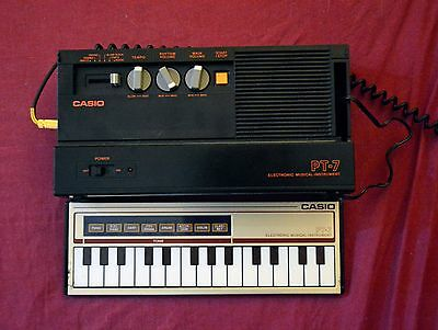 Casio PT-7 1982 Ultra Rare Collector Keyboard Drum Machine Made in Japan