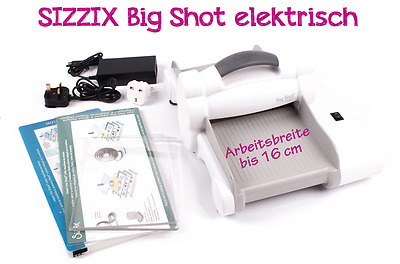 Sizzix Big Shot Express elektrische Stanz- und Prägemaschine Only White & Grey