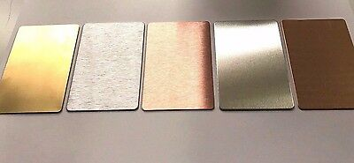 Aluminium / Copper / Brass / Stainless Blank Business Cards Wallet Protectors