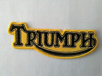 Triumph Old Design  Yellow And Black Style Sew Or Iron On  Patch