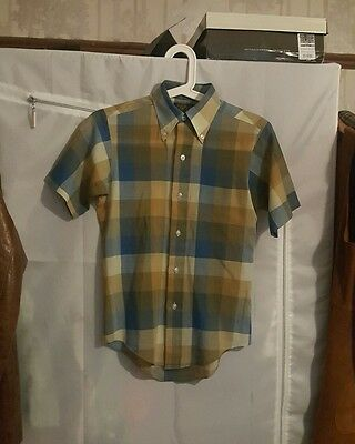 Sears Vintage Skinhead Skingirl Skin '69 Byrd Button Down Summer Shirt Plaid S
