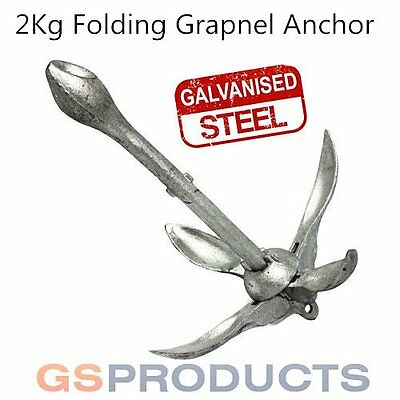 Grappling Hook Folding Boat Anchor 4.5 lbs Galvanized HM