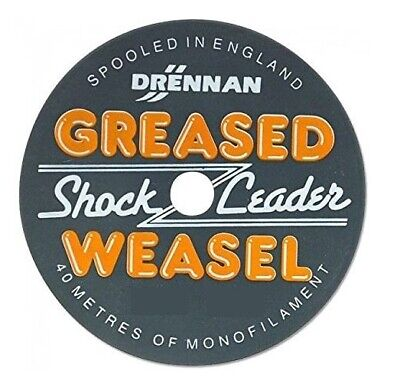 Drennan Orange Greased Weasel Shock Leader 40M Fishing Line Choose Strain