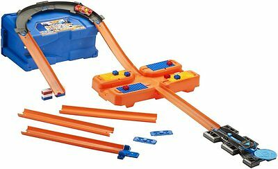 Hot Wheels Dww95 Track Builder Stunt Box Multi Use Pieces Easy Portability