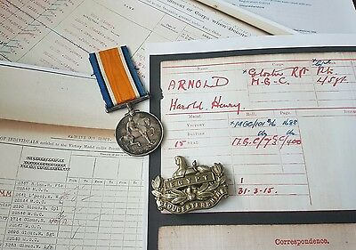 WW1 British War Medal Cpl Arnold Gloucestershire Regiment, Barton Regis Man