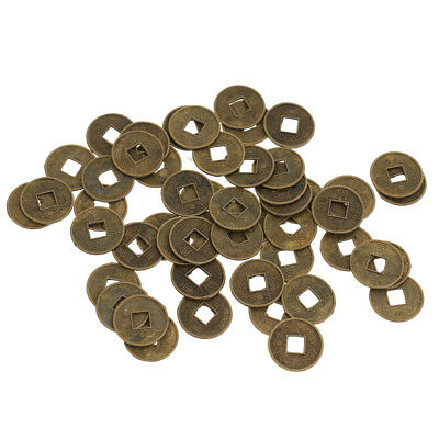 50pcs Feng Shui Coins Chinese I Ching Money Lucky Coin 1.8cm Diameter Charm