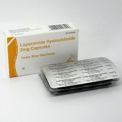 30 Diarrhoea Relief 2mg Capsules Loperamide Hydrochloride Tablets