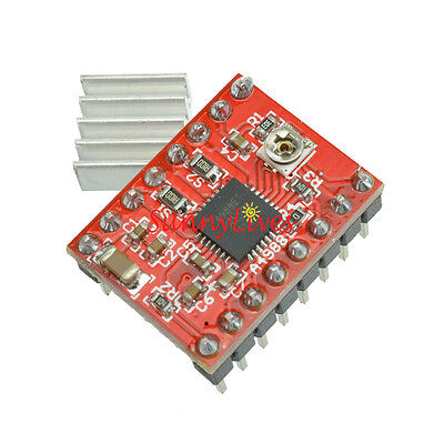 A4988 Stepper Motor Driver Module For Prusa 3D Printer Heatsink RepRa StepStick