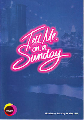 TELL ME ON A SUNDAY PROGRAMME 2011/Sheffield Lyceum/Claire Sweeney/Lloyd Webber