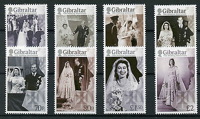 Gibraltar 2017 MNH Queen Elizabeth II 70th Wedding Anniv 8v Set Royalty Stamps