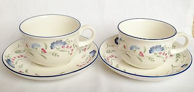 RARE Royal Doulton Windermere Breakfast Cups and Saucers x 2
