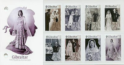 Gibraltar 2017 MNH Queen Elizabeth II 70th Wedding 8v Pres Pack Royalty Stamps