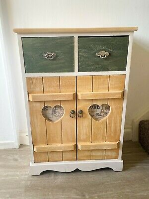 Shabby Chic Cupboard Rustic Wooden Storage Unit White Bedroom Furniture Vintage