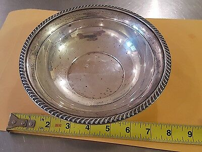 "VINTAGE STERLING 8"" SERVING Bowl PRESINER (P S CO) MONO 108g WEAR SCRATCHES 925"