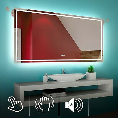 LED Illuminated Bathroom Mirror L15 | Bluetooth Speaker | Switch |
