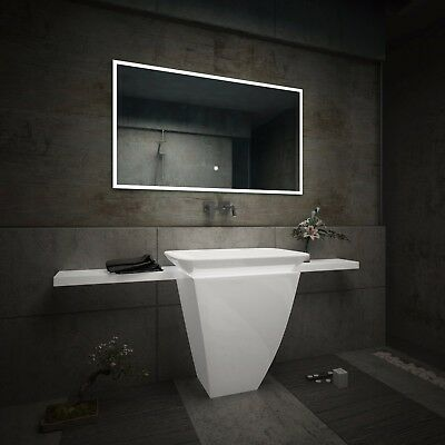 LED Illuminated Bathroom Mirror L49 | Bluetooth Speaker | Switch |
