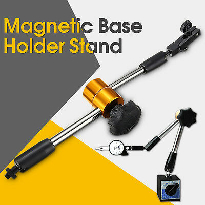 Universal Magnetic Metal Base Holder Stand Dial Test Indicator Flexible Tool US