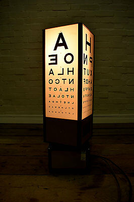 Opticians Eye Test Illuminated Light Box A-Z Mood Feature Lamp Optometry Medical