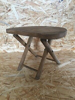 Wooden Step Stool Kitchen Footstool Child Kids Seat Country Vintage Detail