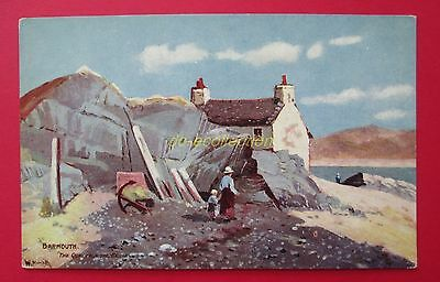 CPA BARMOUTH quay from the bridge old postcard UK wales royaume-uni illustrateur