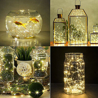 2m Waterproof Christmas Fairy String Lights Outdoor Wedding Party Festival Decor