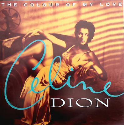 """CELINE DION Display The Colour Of My Love UK PROMO ONLY Rare 12"""" x 12"""" Poster"""