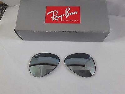 Ray ban RB3025 aviator Green silver mirror sunglasses lenses size 58